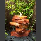 Cascade à fontaine de jardin grès rouge 5 pièces