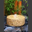 Fontaine de Jardin Meule granite jaune 30cm