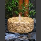 Fontaine de Jardin complet Meule granite jaune 30cm