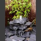 Cascade á fontaine de jardin gris-noir 5 pièces