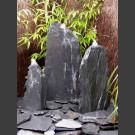 Fontaine Triolithes schiste gris-noir 75cm