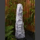 Kit Fontaine Monolithe marbre blanc gris 95cm
