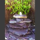 Cascade á fontaine de jardin violet 7 pièces