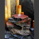 Cascade fontaine de jardin complet noir-rouge 5 pièces