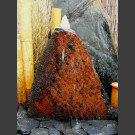 Pierre à fontaine de jardin ardoise noire-rouge 45cm