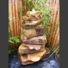 Cascade fontaine de jardin complet grès beige 10 pièces