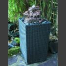 Fontaine pour la terrasse lave cascade dans panier