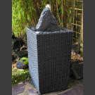Fontaine pour la terrasse schiste gris noir dans panier