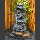 Cascade fontaine de jardin complet schiste gris-noir 12 pièces
