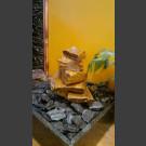 Fontaine d'intérieur set Cascade grès beige 5 pièces en bassin de granit carré