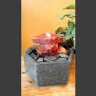 Fontaine d'intérieur set Cascade grès rouge  en bassin de granit hexagonal