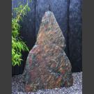 Pierre solitaire Schiste noir-rouge 112cm de haut