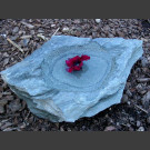 Bain d'oiseaux ardoise bleu-vert 30cm