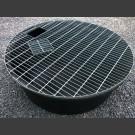 PE-Réservoir rond avec grille pour couvrir rond 110cm