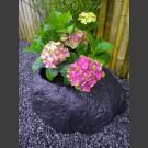 Pot de fleur de basalte boule