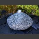 Pierre à fontaine de jardin  gris rocher de granite 25cm