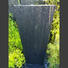 Fontaine set complet Mur d'eau de schiste noir 150cm