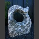 Sculpture en marbre gris-blanc 98cm de haut