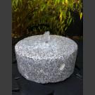 Fontaine de Jardin complet Meule granite gris 30cm