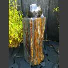 Pierre á Fontaine Schiste Monolith avec rotative boule en marbre