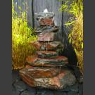 Cascade fontaine de jardin complet schiste noir-rouge 85cm