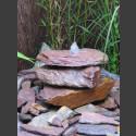 Bronsteen Cascade rode kleurrijke leisteen 3 delige