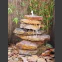 Bronsteen Cascade rode kleurrijke leisteen 7 delige