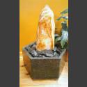 Indoor Fontein Set Onyx Monolith geslepen in hexagonaal Granieten Bak