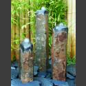 Bronsteen Triolieten Basaltzuilen gepolijst 75cm