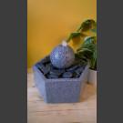Indoor Fontein Set Bal van grijs Graniet in hexagonaal Granieten Bak