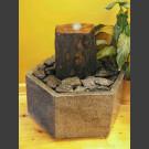 Indoor Fontein Set grijs bruin leisteen in hexagonaal Granieten Bak