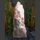 Compleetset fontein Monoliet wit-roze Marmer 60cm