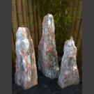 Bronstenen Triolieten marmer wit roze 95cm
