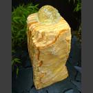 Onyx Bronsteen Monoliet met roterende glas bal 10cm