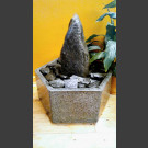 Indoor Fontein Set Zwerfsteen grijs zwart 25cm in hexagonaal Granieten Bak