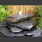 Compleetset Cascade grijs zwart leisteen 3 delige