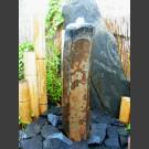 Compleetset fontein Basaltzuile gepolijst 75cm