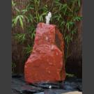 Bronsteen Zwerfsteen van rood Zandsteen 35cm