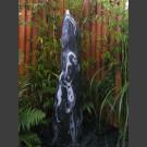 Compleetset fontein marmer zwart-wit geslepen 120cm