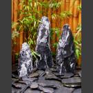 Compleetset Triolieten marmer zwart-wit 75cm