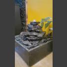 Indoor Fontein Set Cascade grijs zwart  leisteen 5 delige in vierkant Granieten Bak