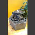 Indoor Fontein Set Cascade grijs zwart 3 delige in hexagonaal Granieten Bak