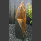 Solitäresteen zwart kleurrijke Leisteen 111cm hoog