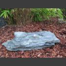 Vogelbadje blauwgroen leisteen 50cm