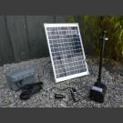 Pomp set Siena met Zonnepaneel, accu, LED, max.1500l/h